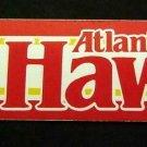 "Atlanta HAWKS Basketball Bumper Sticker 11 1/4"" x 3"" Trench Mfg. 1989  USA"