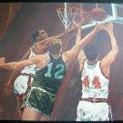 "BASKETBALL Art POSTER Print by Marini 10 1/2"" x 13"""