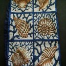 """Seashells CLOTH Tapestry Decor Wall Hanging 18"""" by 10 1/2"""""""