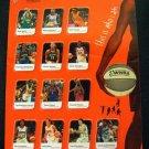 2004 WNBA Season Women's Basketball 13 Players Sheet # 3 Collectors Edition