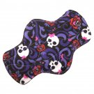 "Cloth Pantyliner 9"" Skulls and Roses"
