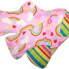 Cloth Menstrual Set of 3 in Different Sizes Rainbow Stripes