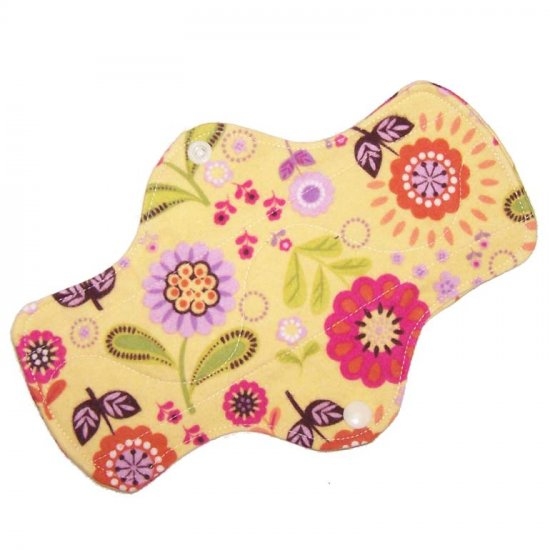 "Cloth Pantyliner 9"" Yellow Floral"