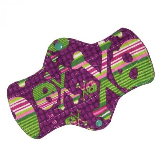 "Cloth Pantyliner 9"" Grape Skulls"