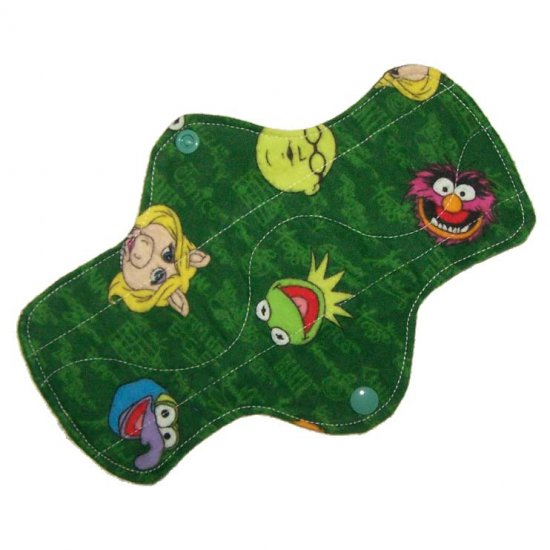 """Cloth Pantyliner 9"""" Muppets"""