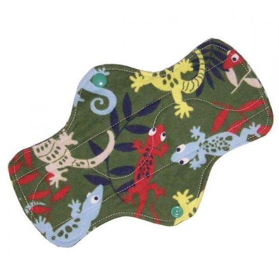 "Cloth Pantyliner 9"" Jungle Geckos"