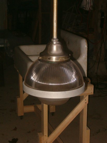 1930's Vintage Cieling lamp with Holophane shade