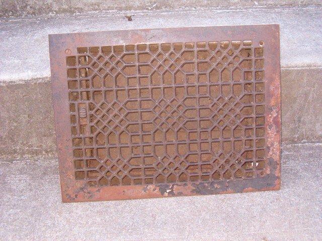 Square Cast Iron Floor Grate