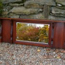 Antique Cherry Wood Overmantle