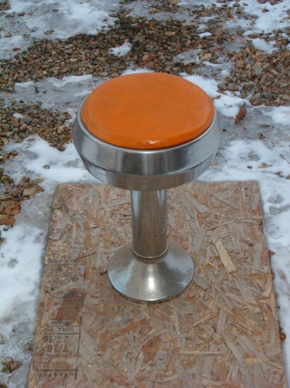 Chrome & Leather padded bar stool