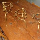 Three vintage wrought iron stands