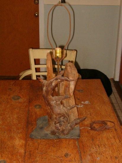 Vintage Driftwood Table Lamp
