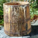 Old wood paint mixing bucket