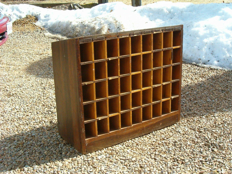 19th Century Oak Wood Pigion Holed Cabinet
