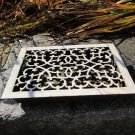 Antique Cast Iron Porcelain Heating Grate