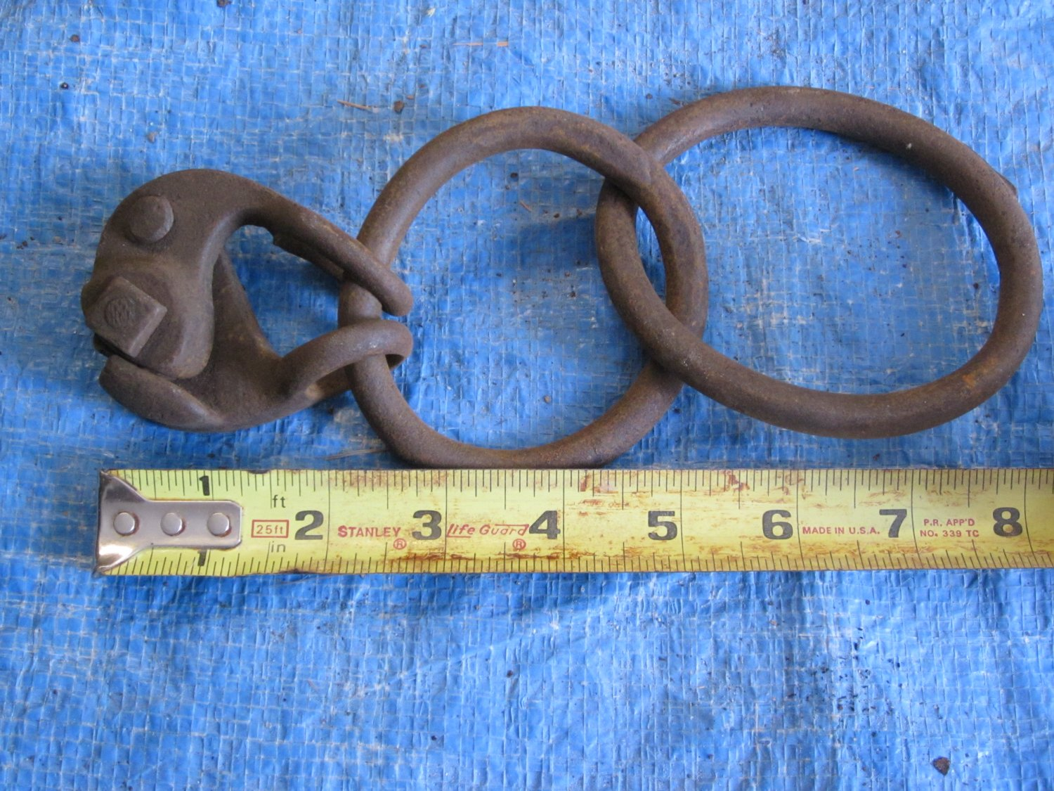 Early Wrought Iron Barn Hitch W/ Rope Binder I 13