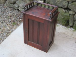 Wood Wall Box With Galley Rail