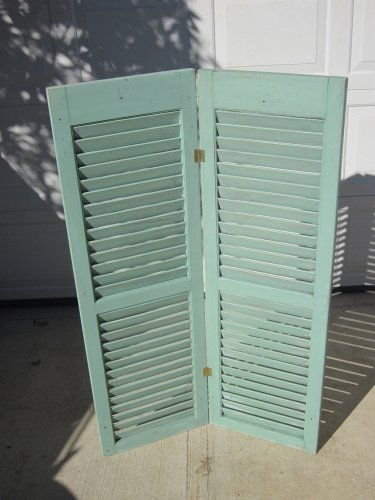 Set of hinged shutters/blinds.