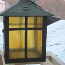 Vintage Hand Crafted Arts & Crafts Candle Lantern