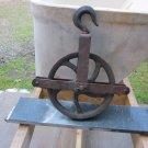 Antique Cast Iron & Steel Well Wheel