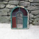 Vintage Wood Round Top Window