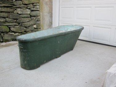 Antique Coffin Style Tin Tub