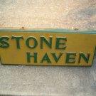 Vintage Wood Camp Sign ( Stone Haven )