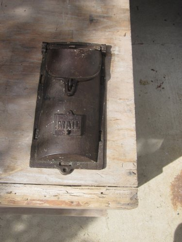 Vintage Cast Iron Mailbox from the 50's