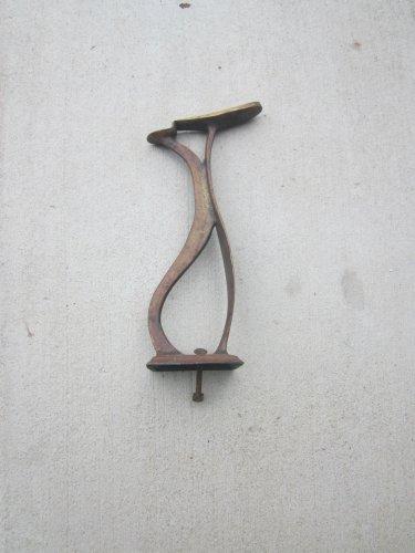 A Brass Shoe Shine Stand