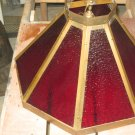 Hanging Brass 8 Panel Lamp