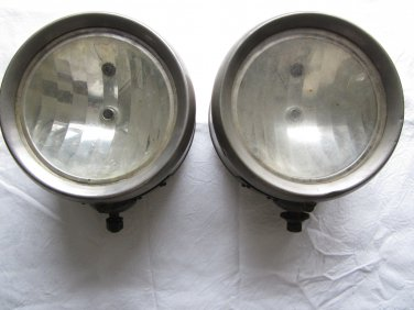 Antique Victor Brown Set Of Auto Headlamps