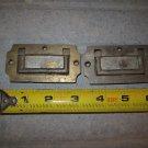 Two Vintage Brass Box Handles