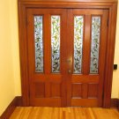 Antique Stained Glass Front Hall Doors