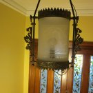 Antique Brass Gas Ceiling Lamp