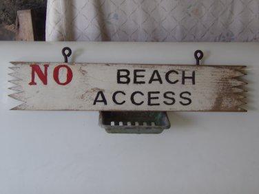 No Beach access sign