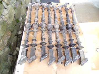 8 Angled Cast Metal Balusters