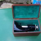 Vintage Brush Pocket Microscope in Leather Case
