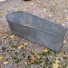 Antique Square Front Tin Coffin Tub