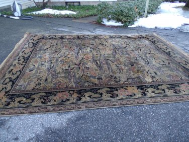 Antique Whittall Anglo Persian Rug 9 X 12