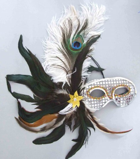 Showgirl Feather Mask Mardi Gras New Orleans