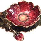 Red Flower Designer Honey Dish