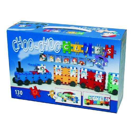 Clics 130pc Choo-Choo Train Builders Toy