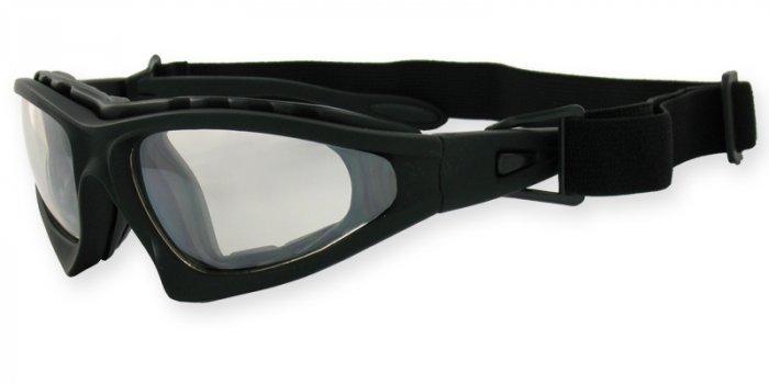 Commander Matte Black Detachable Strap & Padded Frame PC Clear
