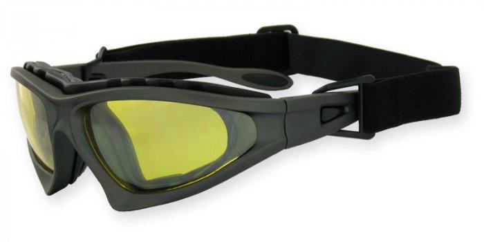 Desert Shield - Commander Matte Black Detachable Strap & Padded Frame PC Yellow