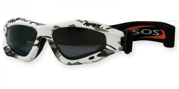 Desert Shield - Snow Camouflage w/2.00MM Polycarbonate Smoke-Anti Fog Lenses