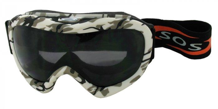 Desert Storm - Snow Camouflage/2.00MM Polycarbonate Smoke-Anti Fog Lenses