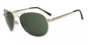 Independence-Ranger Monel Gold Frame, Optical Spring Hinges, PC Gray/Green Lenses