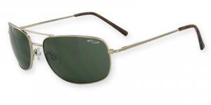 Freedom-Ranger Frame/Lens Color Monel Gold Frame, Optical Spring Hinge, PC Gray/Green Lenses