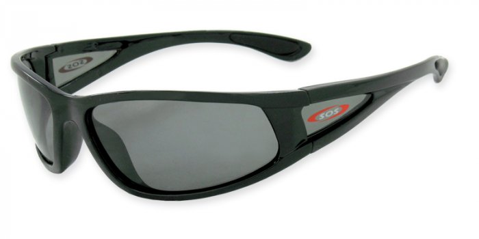 Catalina  - Black w/TAC Smoke Polarized 1.0MM Lenses