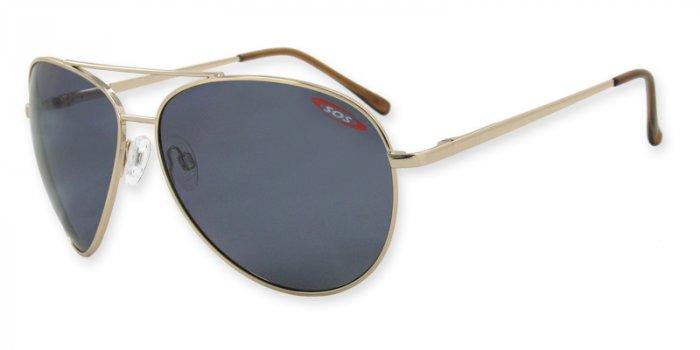 Skipper - Gold w/TAC Smoke Polarized 1.0MM Lenses